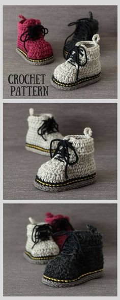 Amazing baby Martens style booties crochet pattern with easy to follow, clear instructions, plenty of pictures. How cute these will look on my little boy! #ad #affiliate #crochet #baby #booties #martens #drmartens #crafts #handmade #DIY #etsy #shopsmall #smallbusiness #babyshower #babygift #easycrochet
