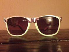 Chromes Sunglasses Color Blocked with Green by DIYstylist on Etsy, $19.99
