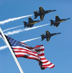 The one & only USNavy Blue Angels. Got to meet some of the pilots (retired now)  from a while back at my dad's retirement. Proud of my Retired Navy Seal Daddy.