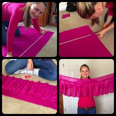Measure, Cut, Ruffle, Sew! DIY Running Skirt :)