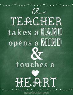 For the love of teachers.  A chalkboard printable via Nest of Posies