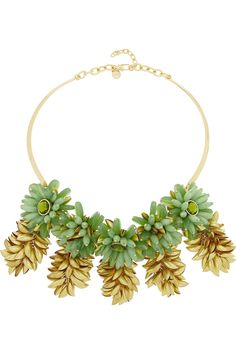 Tory Burch | Brynn gold-plated resin necklace | NET-A-PORTER.COM