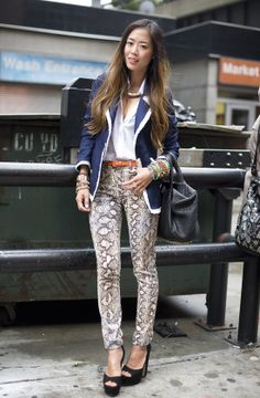 Song of Style - Snake print pants Dali, Snake Print Pants, Hot Summer Outfits, Aimee Song, Song Of Style, Sailor Fashion, Cool Style, My Style, Covet Fashion