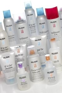 "LOVE Rusk products - my faves are ""Wired"" to keep my hair curly but tamed and then ""STR8"" when I want it totally straight"