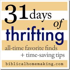 31 Days of Thrifting by Mandy