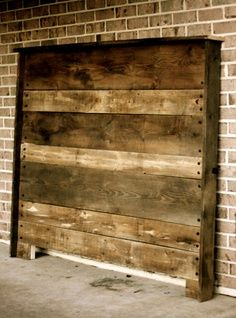 distressed barn wood headboard | Upcycled Barn Wood Headboard by hammerandpaint on Etsy