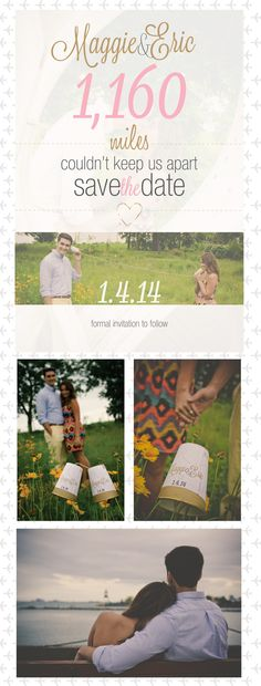 Save the date • engagement photos •  long distance • paper phone cup  Photo Cred: Tea & Kay http://teaandkayphoto.com/