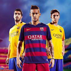 Barca boys Neymar, Messi and Suarez