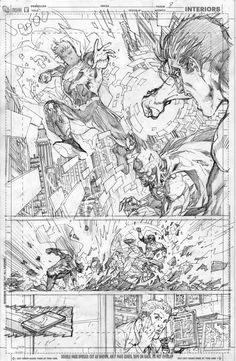 Justice League #2 pg 8 by Jim Lee