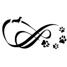 12.1*6.1 CM Teckel Hond Eternity Pootafdruk Automobile Staart Decoratieve Decals…
