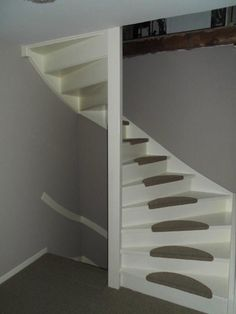 Best Ideas For Spiral Stairs Storage Trap Door Basement Steps, Basement House, Tiny House Stairs, Attic Stairs, Tile Stairs, Glass Stairs, Round Stairs, Trap Door, Stair Storage