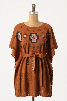 """I would love this over a pair of form fitting jeans.  The """"Ashcreek Poncho"""" by Pendleton for Anthropologie.  $248"""