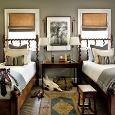 Traditional Bedroom Design Ideas For Kids comes with Classic Small Boy Bedroom Decor and Wooden Bedside Table Boys Bedroom Decor, Gray Bedroom, Teen Bedroom, Home Bedroom, Bedroom Ideas, Bedroom Designs, Boy Bedrooms, Shared Bedrooms, Gray Rooms