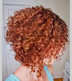 cute curly inverted bob