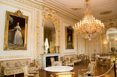 Royal Palace, France, the White Grand Salon ..(look at that chandelier ...speechless!)