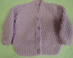 Baby Cardigan Jacket Unique Hand Knitted 20-21 Inch 9-12