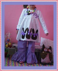 Hoppy Easter Dress for Girl... 4 Color Choices ... Girl Easter Clothing