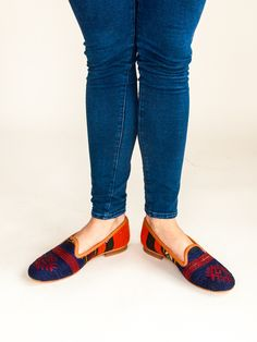 Our Turkish kilim rug loafers are one of a kind. Handmade with a wool upper, leather lining/interior and a inch raise. Teen Fashion, Spring Fashion, Fashion Shoes, Fashion Accessories, Style Fashion, Fashion Ideas, Womens Fashion, Fashion Tips, Turkish Kilim Rugs