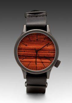 6aaed6c84e8 Komono Magnus in Black  Wood Stylish Watches