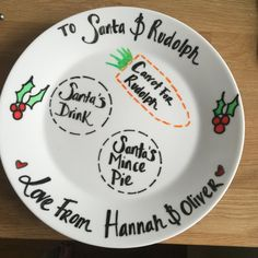 Santa Plate by AliceQueenie on Etsy