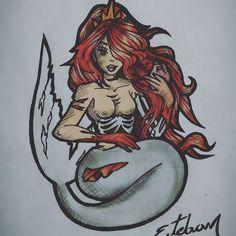 #death #zombie #heart #mermaid #siren #sirena #EstebanPublicist #tattoo