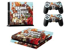 Sony Playstation4 game console skins Grand Theft Auto V PS4 controller protective skins http://www.dwtechz.com/sony-playstation4-game-console-skin-grand-theft-auto-v-p-17623.html