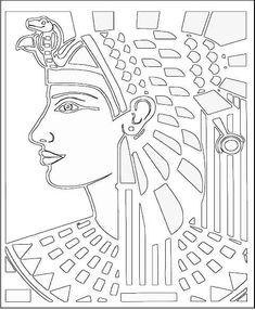 Vector Clip Art - Free Clipart Images: Ancient Egyptian Coloring Pages 061611 Ancient Egyptian Art, Ancient History, Art History, Ancient Egypt Crafts, Egyptian Crafts, Colouring Pages, Coloring Books, Art Rupestre, Art Handouts