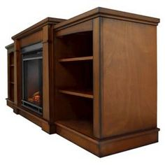 Hawthorne TV Stand with Electric Fireplace - Espresso