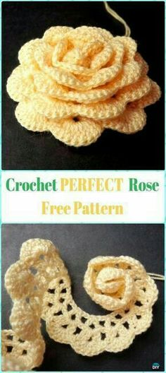 Perfect Crochet Rose Flowe by r Free PatternCrochet Rose Flowers Free Patterns & Tutorials: Easy Crochet Rose, Single Stripe Rose, Layered Rose, Interlocking Ring Rose, Puffy or Popcorn RosePerfectly fine with me if you want to Crochet Rose Flower Free Pa Crochet Puff Flower, Crochet Flower Tutorial, Crochet Flowers, Pattern Flower, Crochet Leaves, Rose Tutorial, Paisley Pattern, Crochet Gifts, Crochet Yarn