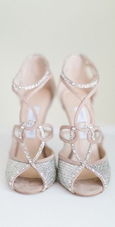 OMG can i get married just so i can wear these beauty???    Jimmy Choo, enough said Jimmy Choo ~ Cinderella Glass Slipper Interpretation, 2015 thepageantplanet....