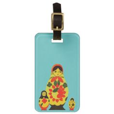Vintage Russian Russia Chic Matryoshka Doll Luggage Tags $12.95