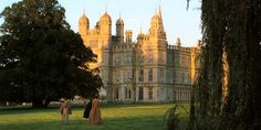 Rosings is played by the grand Burghley House in Lincolnshire, north of London but still in the south east of England. The house, built by Queen Elizabeth 's lord high Treasurer, took over 32 years to complete, and was finished in 1587.