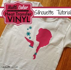 Silhouette School: Multi Color Heat Transfer Vinyl Silhouette Tutorial (and How to Layer)