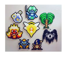 Secret of Mana perler 8 Elemental Spirits 8 Bit Pixel by PerlPop
