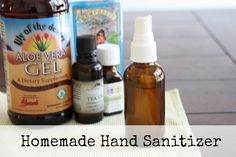 Homemade Hand Sanitizer! Simple recipe to use when you don't have access to a sink!