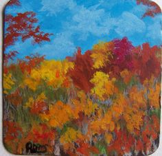 Autumn Color Changes Blue Ridge Parkway Painting on by PatAdamsArt, $15.00