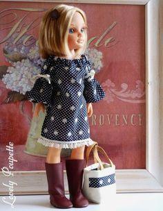 Resultado de imagen de patrones nancy tamaño real Ropa American Girl, American Girl Clothes, Girl Doll Clothes, Nancy Doll, Diy Doll, Vintage Dolls, Baby Dress, Girl Outfits, Summer Dresses