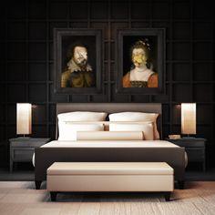Lady Lemon - Large Print - Perfect for modern bedroom dark decor