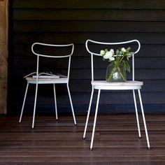 Chaise en métal et pin Alix