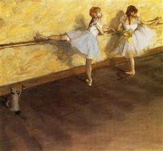 Dancers Practicing at the Barre - Edgar Degas