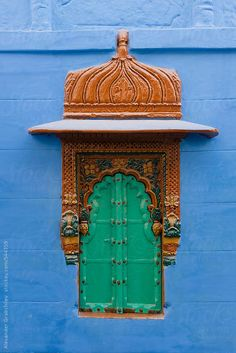 Traditional Window In Blue City Jodhpur Blue City, Rajasthan, India / Alexander Grabchilev for Stocksy United