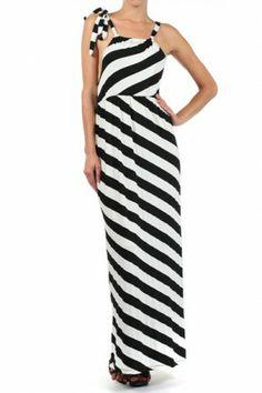 #salediem #fashion #summer  #dress  #blackandwhite Striped maxi dress