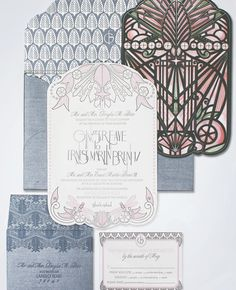 Luxury Wedding Invitations by Ceci New York - Our Muse - Soft Modern Aspen Wedding - Be inspired by Ginger & Ernest's soft, modern Aspen wed. Art Deco Wedding Invitations, Wedding Party Invites, Wedding Stationery, Wedding Cards, Wedding Paper, Bussiness Card, Aspen, Wedding Ideas, Wedding Venues