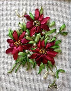 Cartões artesanais | fita de seda bordado