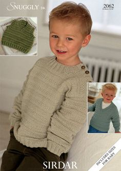 Sweaters and Slipover in Sirdar Snuggly DK - Discover more Patterns by Sirdar Snuggly at LoveKnitting. The world's largest range of knitting supplies - we stock patterns, yarn, needles and books from all of your favourite brands. Sirdar Knitting Patterns, Jumper Knitting Pattern, Knit Patterns, Weaving Patterns, Knitting For Kids, Free Knitting, Knitting Books, Baby Bamboo, Knitting Supplies