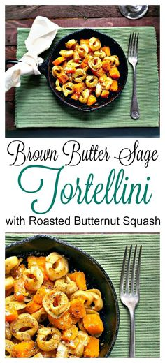 This simple Brown Butter Sage Tortellini with Roasted Butternut Squash recipe is full of flavor and takes only one skillet to make!
