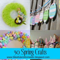 30 spring Craft Ideas. Such a great bunch of ideas!    www.blissfulanddomestic.blogspot.com