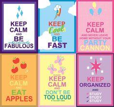 Keep calm mane 6