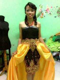 Dress Tenun Alor Modifikasi