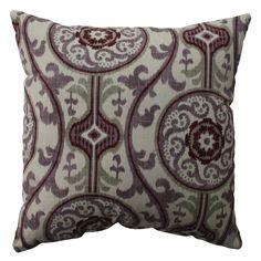 Pillow Perfect Suzani Damask Plum 16.5-inch Throw Pillow | Overstock™ Shopping - Great Deals on Pillow Perfect Throw Pillows